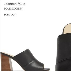 Johannah Mule- Sole Society black heels